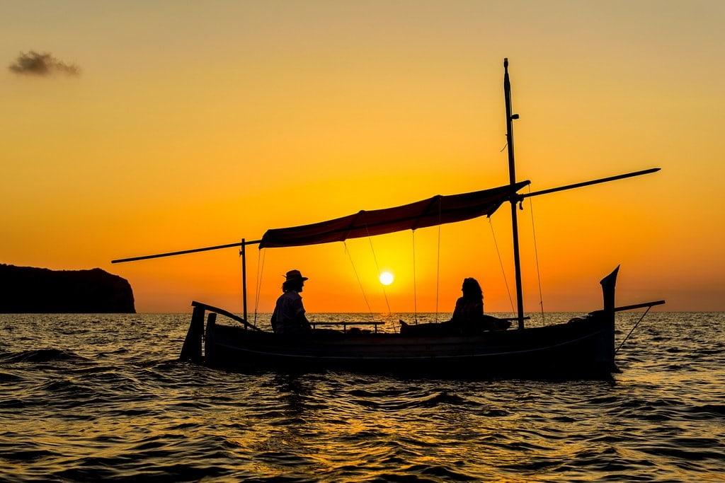Benirras sunset boat tours Ibiza